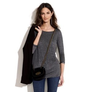 Madewell Hi-Line Gray Night Sparkle Pocket Tee